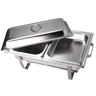 Chafing dish compleet 2xGN 1/2 (2-vaks)