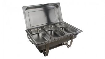 Chafing dish compleet 3xGN 1/3 (3-vaks)