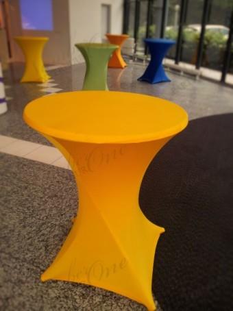 Statafelrok geel stretch