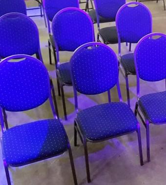 Stackchair / stapelstoel blauw